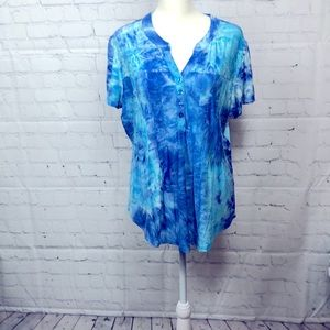 Forever Ford New York top, size LP, blues